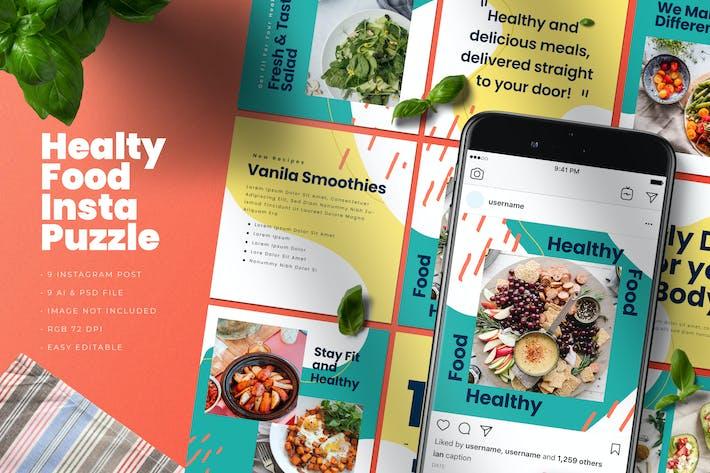 Healthy Food Insta Puzzle