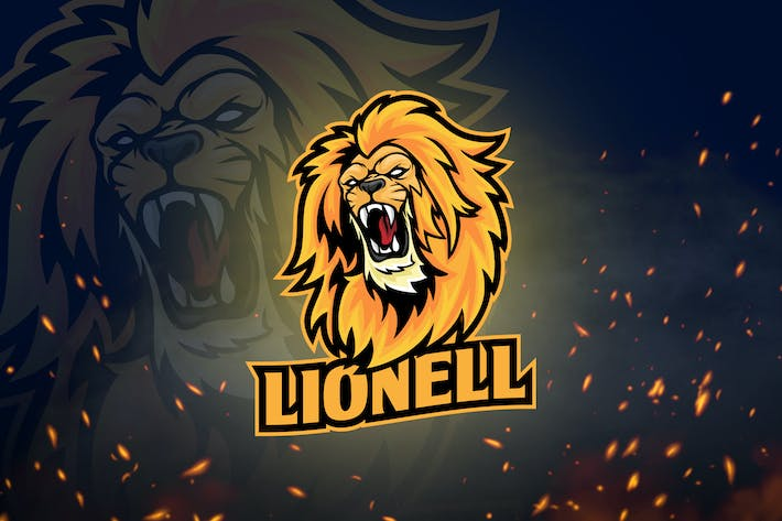 Thumbnail for Animal Mascot & Esport Logo V4 - Angry Lion