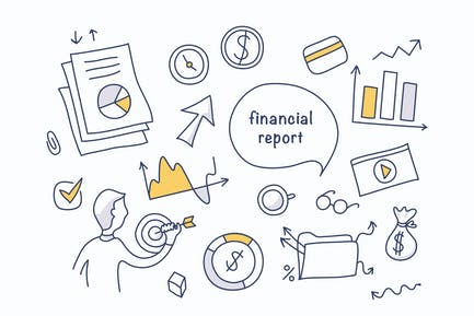 Financial Report Doodles