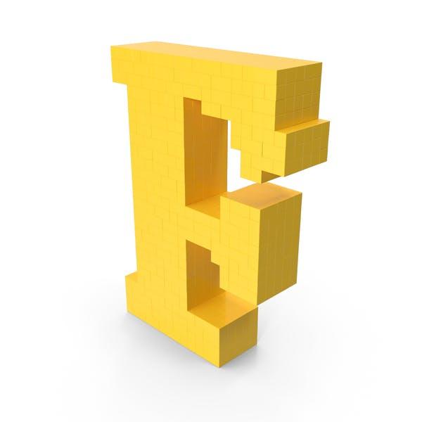 Пиксельная художественная буква F