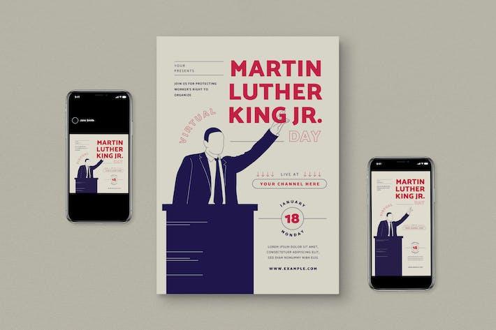 Martin Luther King Jr Flyer Set