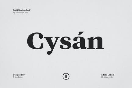 Cysan - Con serifa moderno