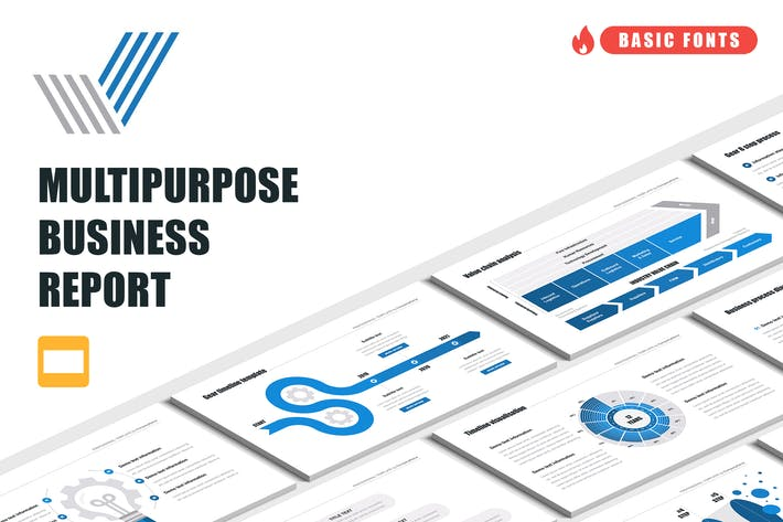 Cover Image For Multipurpose Business Report for Google Slides