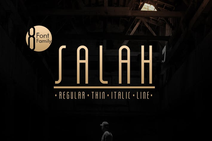 Thumbnail for Salah Sans Serif 8 Font Family