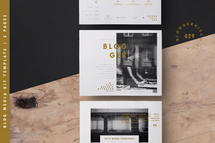 Thumbnail for Blog Media Kit Template | A4 + US Letter