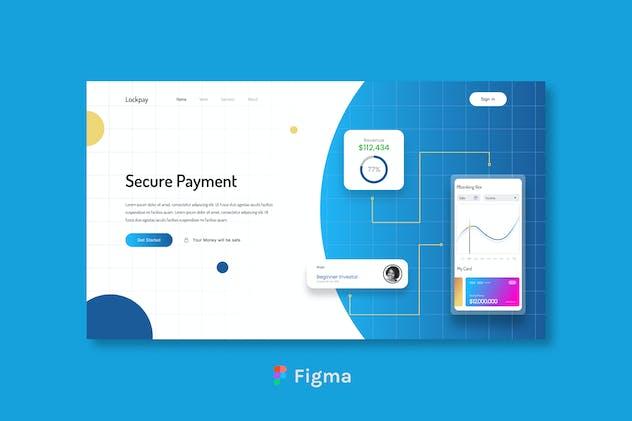 Lockpay - Secure Payment Header Design Figma