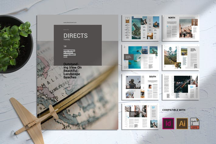 Thumbnail for Direct Travel | Magazine Template