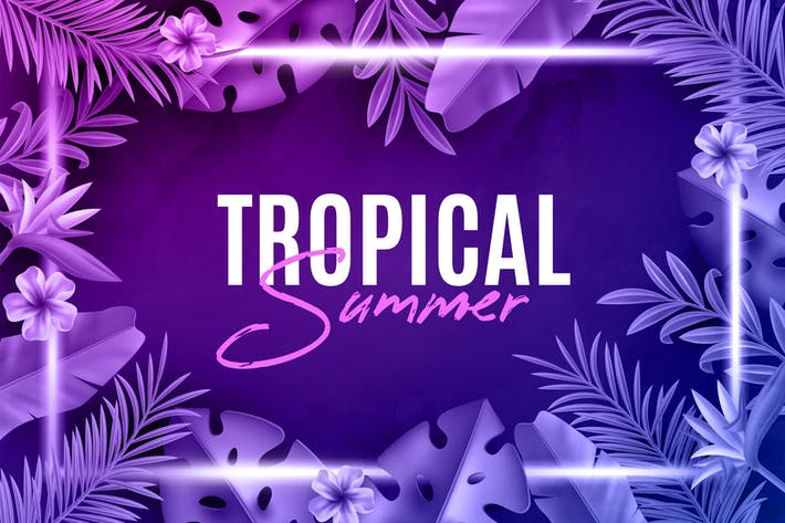 Thumbnail for Tropical Neon Backgrounds