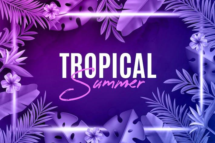 Thumbnail for Tropische Neon-Hintergründe