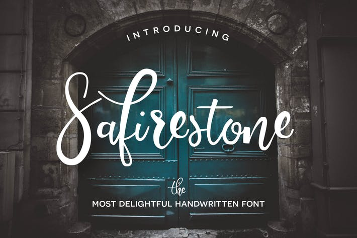 Thumbnail for Safirestone Font
