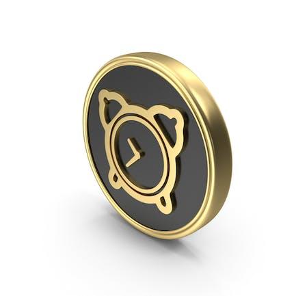 Wecker Zeit Münze Logo-Symbol