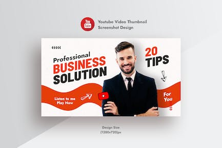YouTube Video Thumbnail For Business Solution Tips