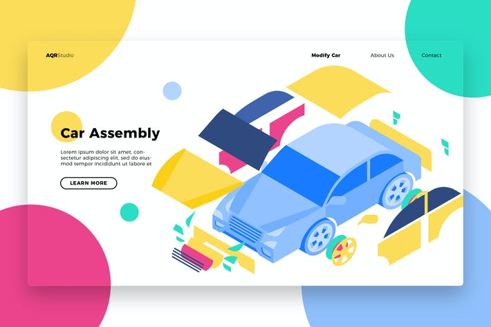 Thumbnail for Car Assembly - Banner & Landing Page