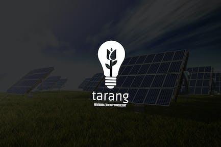 Tarang : Negative Space Green Energy Logo