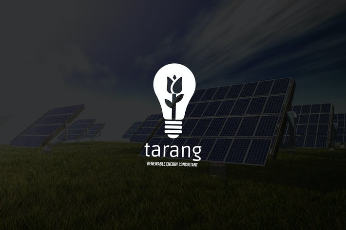 Thumbnail for Tarang: Negative Space Green Energy Logo