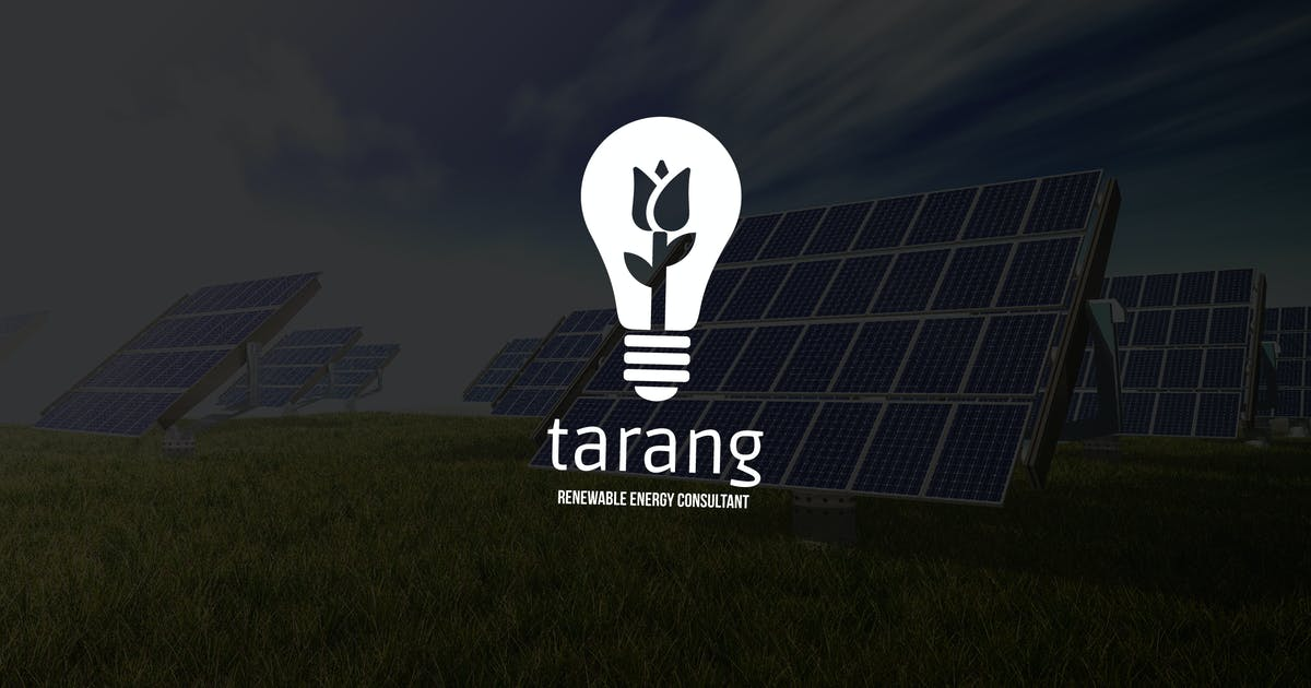 Tarang : Negative Space Green Energy Logo by punkl