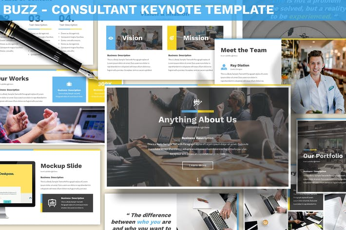Thumbnail for Buzz - Consultant Keynote Template