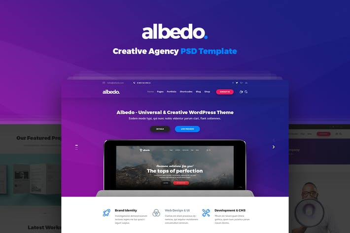 Thumbnail for Albedo - Creative Agency PSD Template