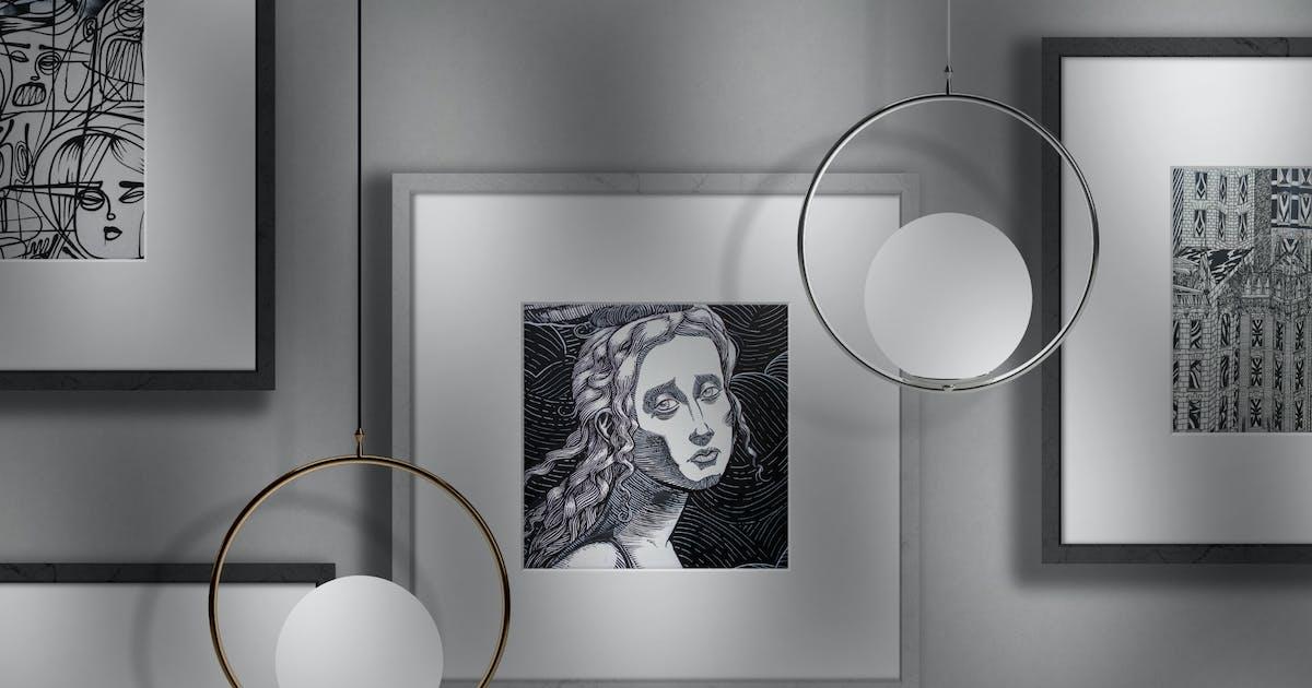 Download Artwork Frames Photo Mockup by helloDigi