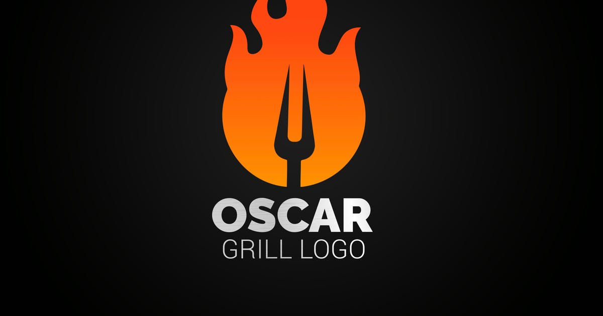 Download Letter O Fire Grill Logo by SmartDesigns_eu