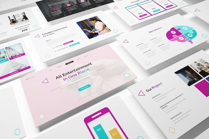 Thumbnail for Business Network Powerpoint Template