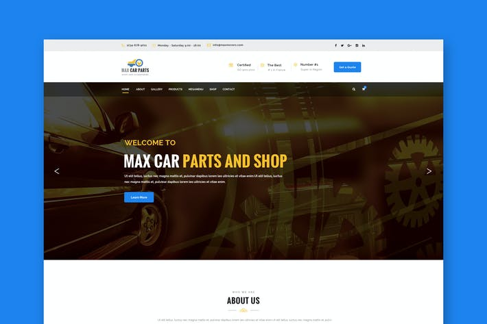 Thumbnail for Car Parts & Accesories PSD Template