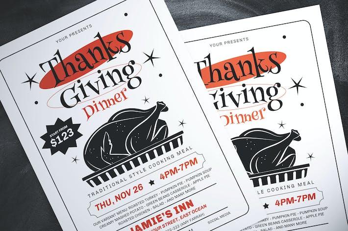 Thumbnail for Thanksgiving Dinner Flyer
