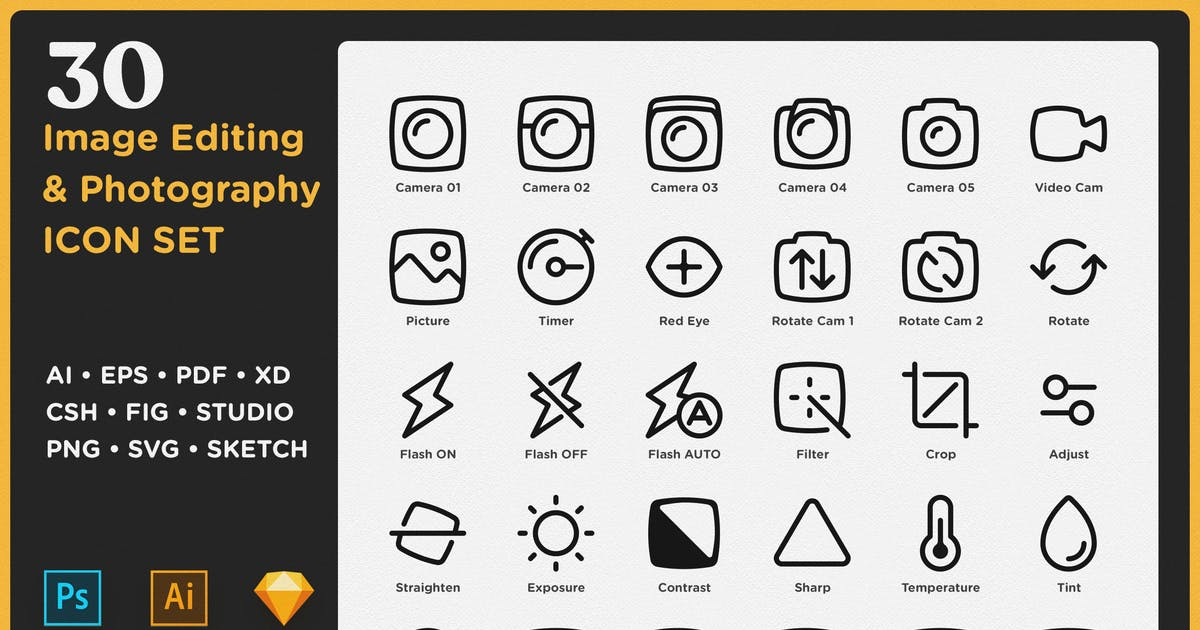 Download SayCheese - Image Editing & Photography Icon Set by weirdeetz
