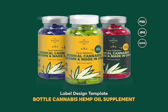 Thumbnail for Label Design Bottle Cannabis Hemp Oil Supplement
