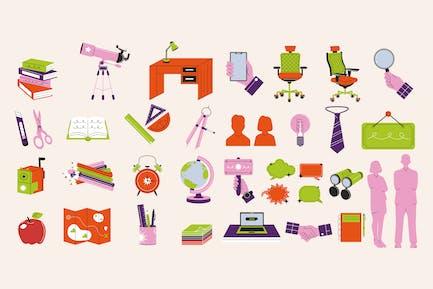 Stationery Asset Illustration Set