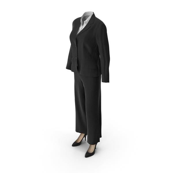 Женский деловой костюм черный