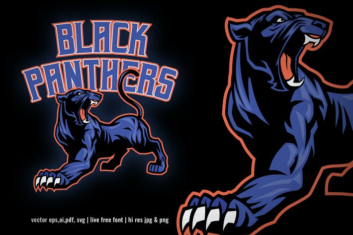 black panther sport and esport logo