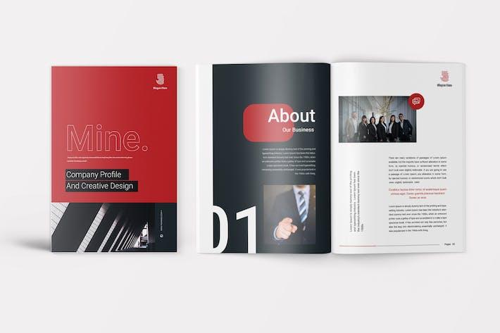 Cover Image For Mine - Company Profile Template