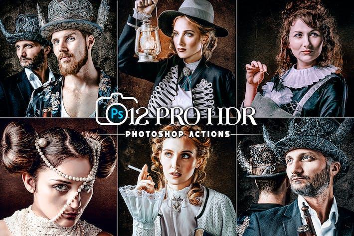 12 PRO HDR Portrait Photoshop Actions