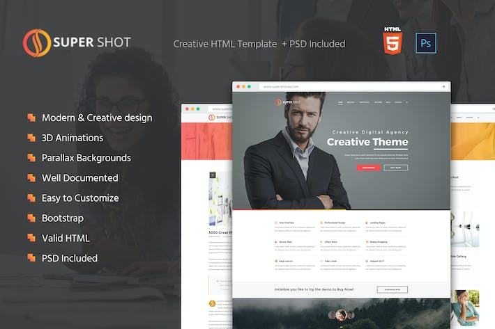 Thumbnail for SuperShot - Creative HTML Template