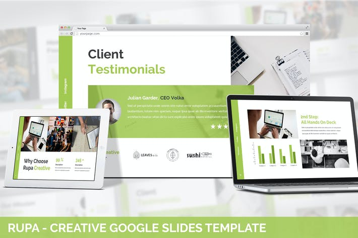 Thumbnail for Rupa - Creative Google Slides Template