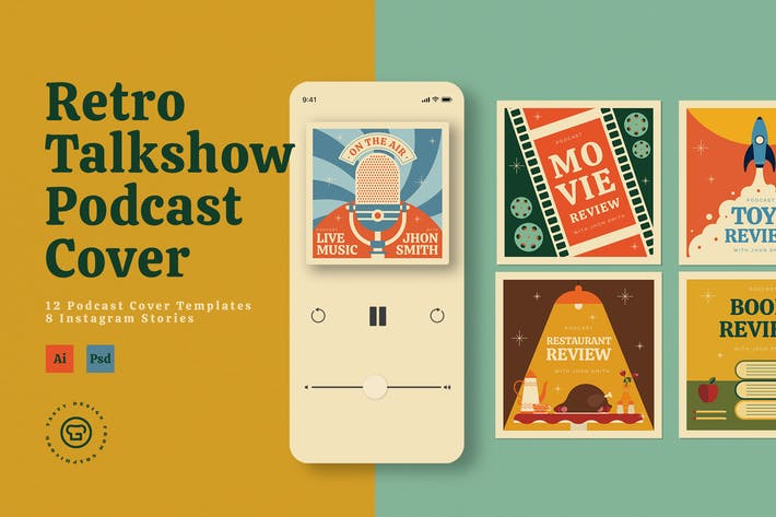 Thumbnail for Retro Talkshow Podcast Package