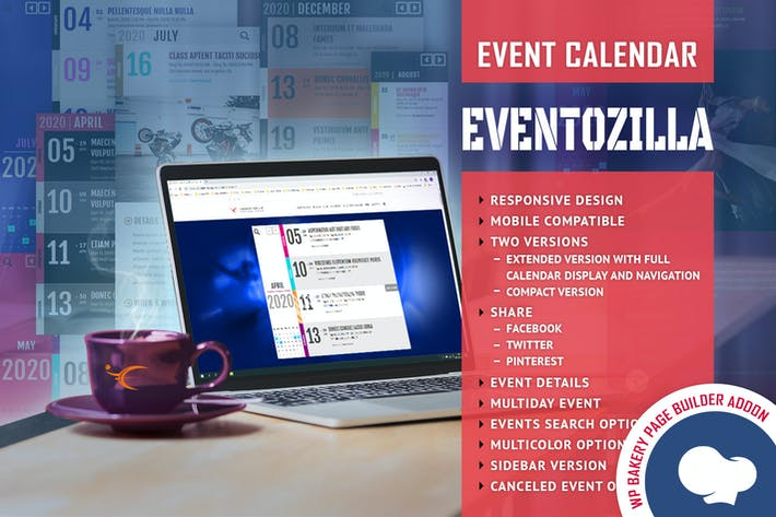 Thumbnail for EventoZilla - Event Calendar - Addon For WPBakery