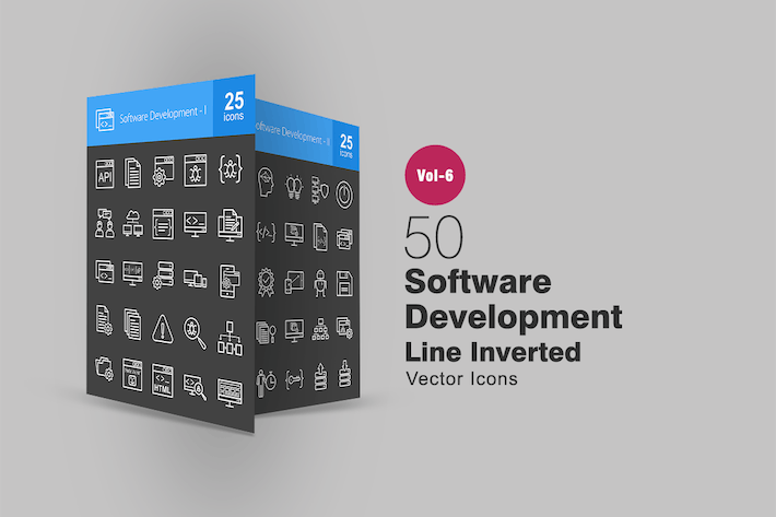 Thumbnail for 50 Software Development Line Inverted Icons