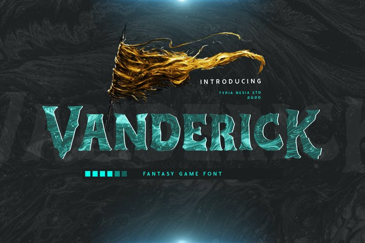 Thumbnail for Vanderick Fantasy Game Font