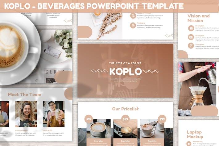 Koplo - Напитки Powerpoint Шаблон