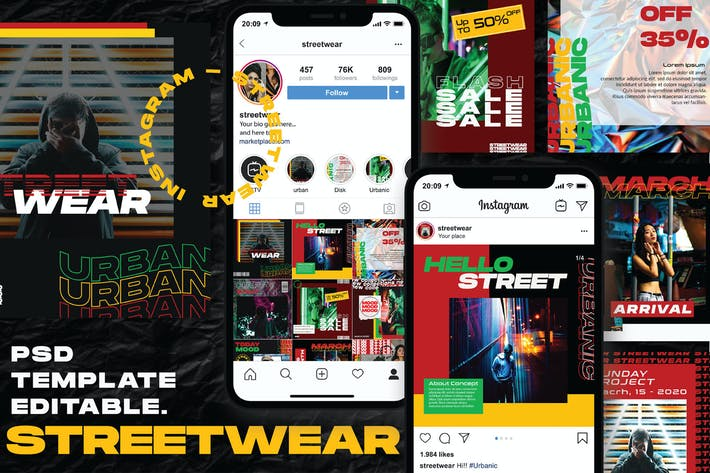Thumbnail for Streetwear - Instagram Post and Stories