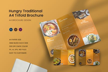 Hungry Traditional Trifold Brochure