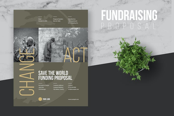 Thumbnail for Fundraising Proposal Template - Real Copy
