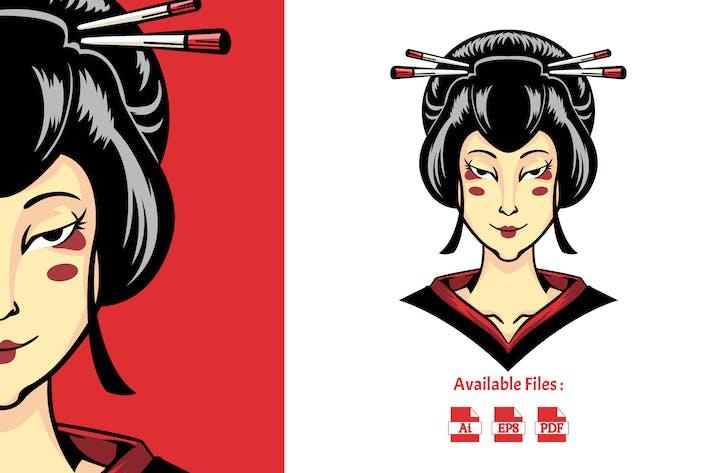 Japanische Geisha-Abbildung