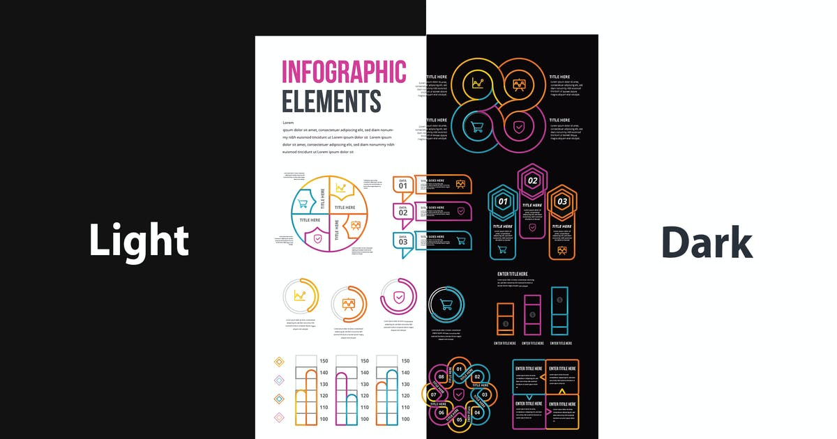 Download Infographic Template & Elements for Business V.46 by tokopress