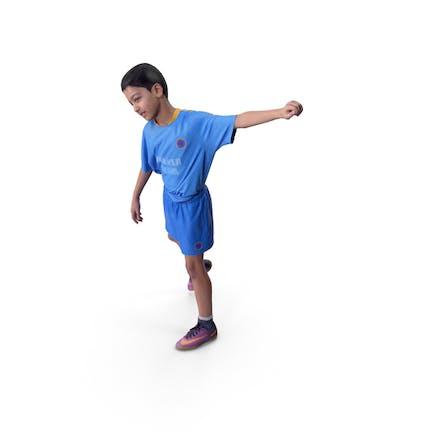 Jugador de fútbol infantil