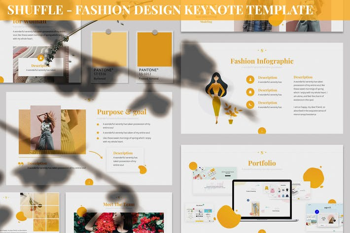 Thumbnail for Shuffle - Fashion Design Keynote Template