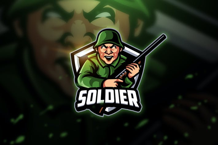 Thumbnail for Soldat - Mascotte & Logo Esport