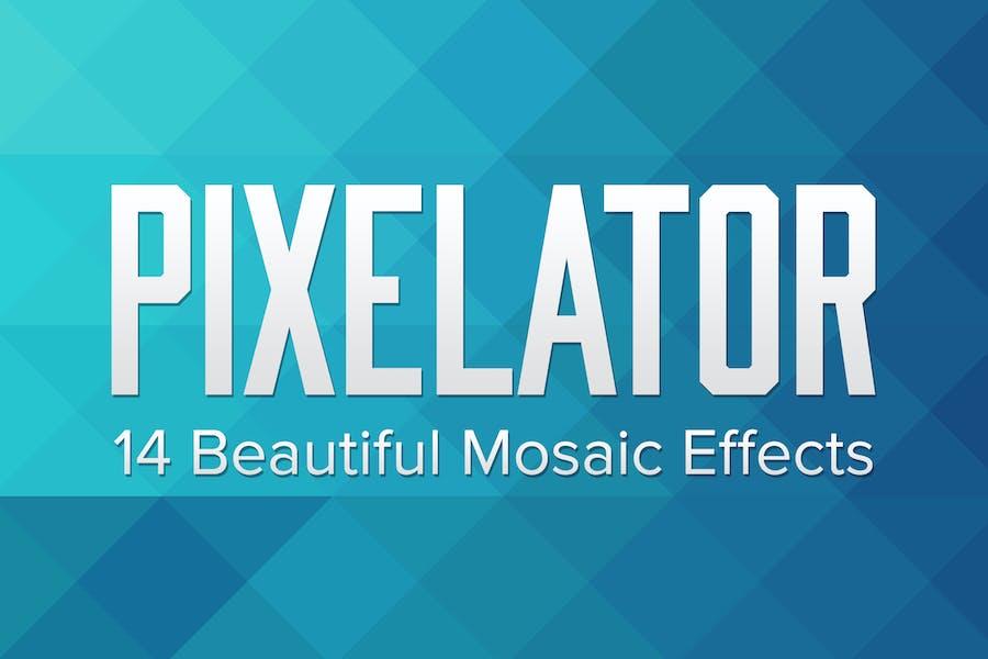 Pixelator – 14 Triangular Mosaic Pixel Effects